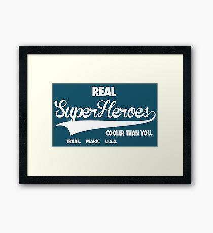 Superhero Superdry Framed Print