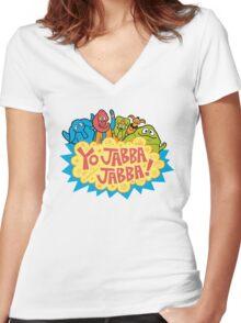 Yo, Jabba! Women's Fitted V-Neck T-Shirt