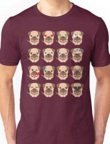 Bulldog Emoji Different Facial Expressions Unisex T-Shirt