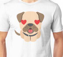 Bulldog Emoji Love and Heart Eyes Unisex T-Shirt