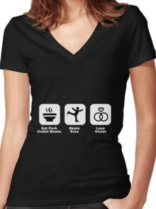 Yuri's Daily Life Women's Fitted V-Neck T-Shirt