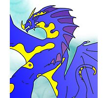 Tribal Water Dragon (Light) Photographic Print