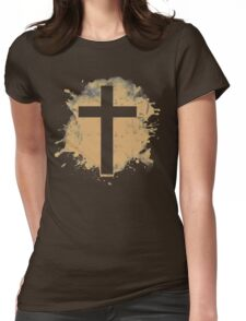 Jesus Christ Son of God Lord Crucifix Womens Fitted T-Shirt