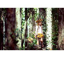 Child Forest Portrait Photographic Print