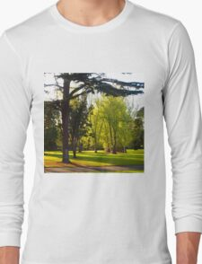 Spring morning Fitzroy Gardens Melb Vic Australia (2) Long Sleeve T-Shirt