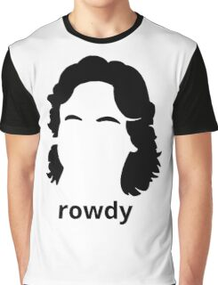 """""""Rowdy"""" Roddy Piper Tribute (in BLACK) Graphic T-Shirt"""