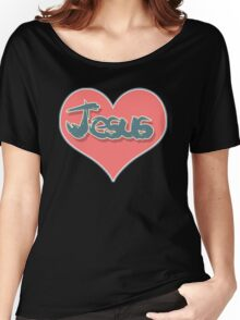 Love Jesus Christ Son of God Lord Crucifix Women's Relaxed Fit T-Shirt