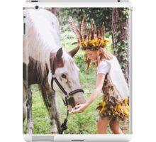 Child Forest Portrait 2 iPad Case/Skin