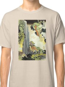 'Waterfall' by Katsushika Hokusai (Reproduction) Classic T-Shirt