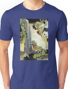 'Waterfall' by Katsushika Hokusai (Reproduction) Unisex T-Shirt