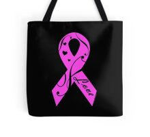 Pink Breast Cancer Ribbon With Love  Tote Bag