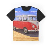 Red Volkswagen Bus Graphic T-Shirt