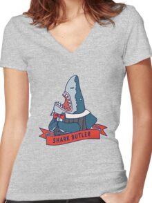 Shark Butler Women's Fitted V-Neck T-Shirt