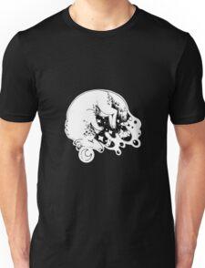White Wolf Night Sky Unisex T-Shirt