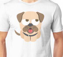 Bulldog Emoji Thinking Hard and Hmm Look Unisex T-Shirt