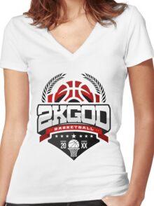 NBA 2KGOD Women's Fitted V-Neck T-Shirt