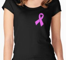 Breast Cancer Awareness Pink Ribbon  Women's Fitted Scoop T-Shirt