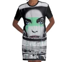 Astronout Girl Graphic T-Shirt Dress