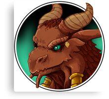Dragonborn Cleric (Normal) Canvas Print