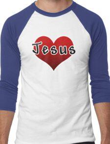 Love Jesus Christ Son of God Lord Men's Baseball ¾ T-Shirt