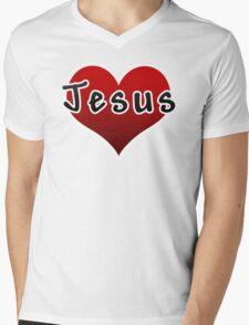 Love Jesus Christ Son of God Lord Mens V-Neck T-Shirt