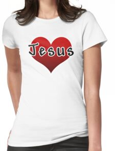 Love Jesus Christ Son of God Lord Womens Fitted T-Shirt