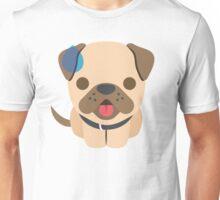 Bulldog Emoji Sweating and Speechless Look Unisex T-Shirt