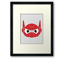 Baymax Head with Helmet Framed Print
