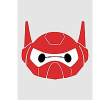Baymax Head with Helmet Photographic Print