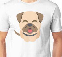 Bulldog Emoji Happy Smiling Face Unisex T-Shirt