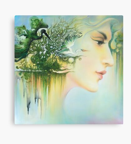 In the Fluter of Wings-In the Silence of Thoughts Canvas Print