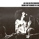 Patti Smith Gender Is A Drag  by Katerina Gibson