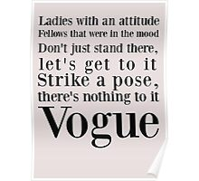 Strike a pose, there's nothing to it..  Vogue Poster