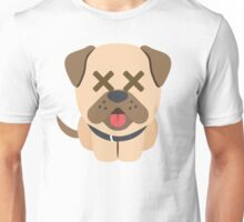 Bulldog Emoji Fainted and Passed Out Look Unisex T-Shirt