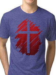 Jesus Christ Son of God Lord Cross Tri-blend T-Shirt