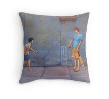 Everything above the line is OUT! Throw Pillow