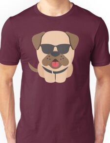Bulldog Emoji Cool Sunglasses Look Unisex T-Shirt