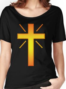 Jesus Christ Son of God Lord Cross Women's Relaxed Fit T-Shirt