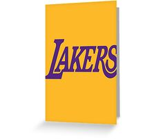 text lakers Greeting Card