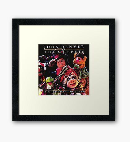 John Denver & The Muppets Christmas Together Framed Print