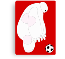 Baymax playing Soccor Canvas Print
