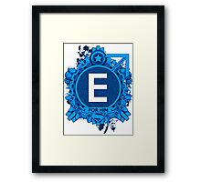 FOR HIM - E Framed Print