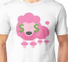 Pink Poodle Dog Emoji Money Face Unisex T-Shirt