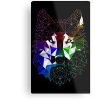 Geometric Wolf Metal Print