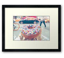 Hail to the Doughnut Framed Print