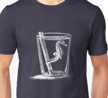 Seepferdchen im Wasserglas - weiß Unisex T-Shirt