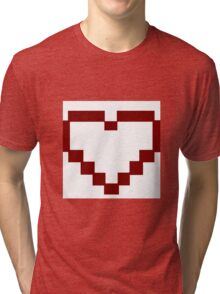 Red Pixel Heart Tri-blend T-Shirt
