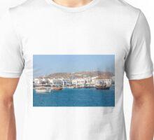 Mykonos Harbour, Greece Unisex T-Shirt