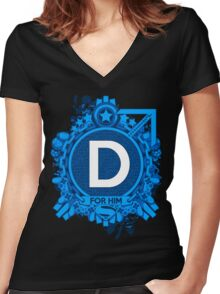 FOR HIM - D Women's Fitted V-Neck T-Shirt