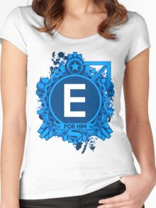 FOR HIM - E Women's Fitted Scoop T-Shirt